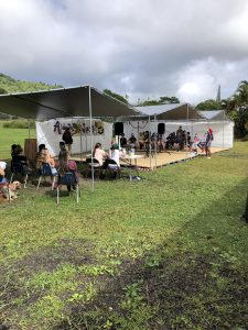 Alaka'i O Kaua'i learners attend spelling bee in outdoor classroom on campus