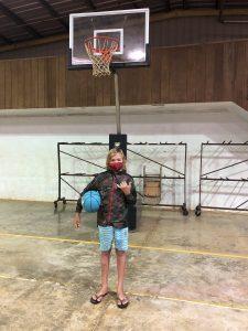 Alakai O Kauai learner with basketball