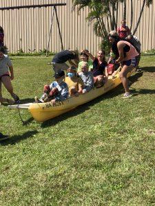 Alakai O Kauai learners in boat on land