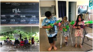 Alakai O Kauai campus learners ukulele outdoor classroom PBL chalkboard