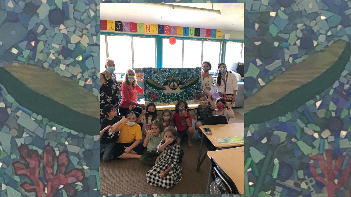 Alaka'i O Kaua'i learners and facilitators art turtle