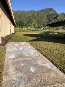 Alaka'i O Kaua'i campus sidewalk chalk