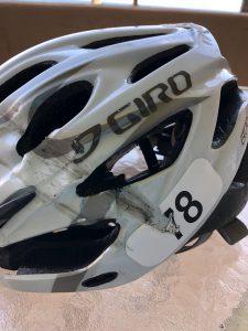 Director DJ Adams bike helmet