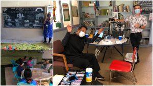 Alakai O Kauai learners, facilitator, board, eye exams