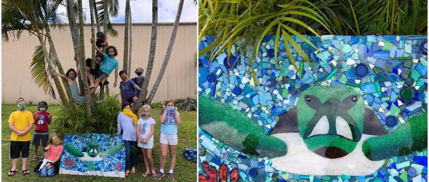 Alaka'i O Kaua'i learners mosaic art ocean turtle