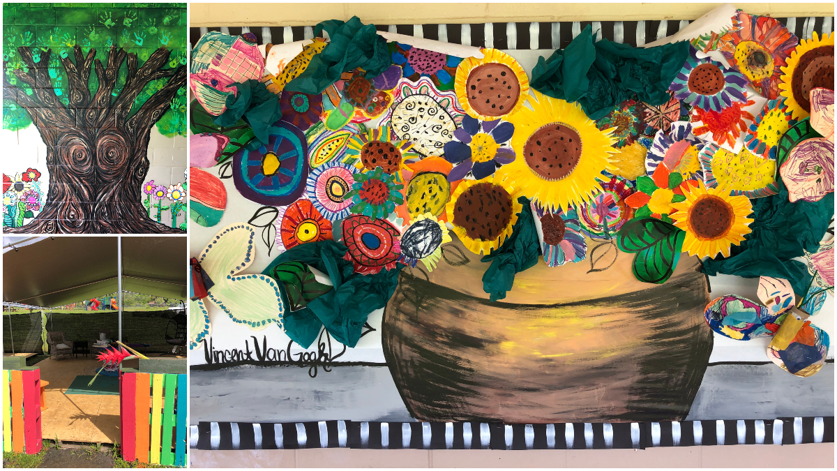 Alakai O Kauai learner art tree painted wall van Gogh flowers