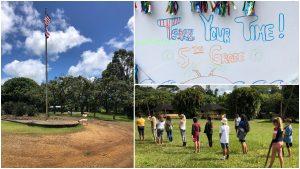 Alakai O Kauai campus flag goats learners